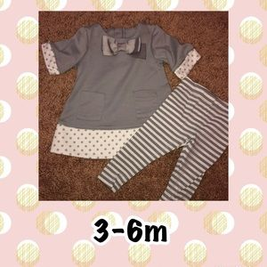 baby girl winter outfit 3-6m